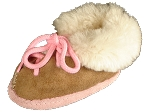 Lace Up Kids Sheepskin Slipper