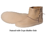 Santa Fe Leather Moccasins with Natural Crepe Rubber Sole