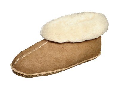 Colorado Moccasin Sheepskin Slippers with Traction Rubber Sole Made in the USA