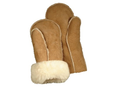 Shearling Sheepskin Mittens for Men and Women Made in the USA