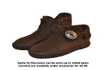 Santa Fe Leather Moccasins with Leather Sole Made in the USA