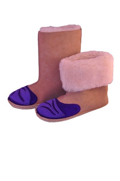 Deluxe High Top Sheepskin Slippers Made in the USA